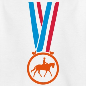 champion medaille equitation Tee shirts Enfants - T-shirt Ado