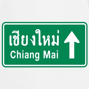 Chiang Mai, Thailand / Highway Road Traffic Sign - Cooking Apron