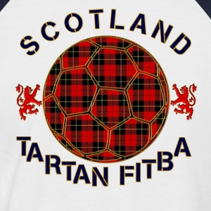 tartan football scotland red T-Shirts - Men's Baseball T-Shirt