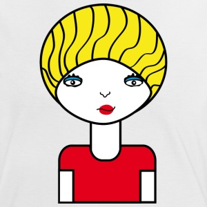 Model T-shirts - Vrouwen contrastshirt