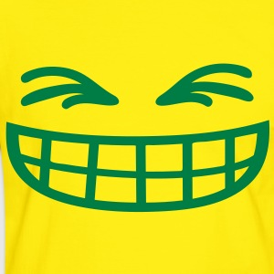 grin_face T-shirts - Mannen contrastshirt