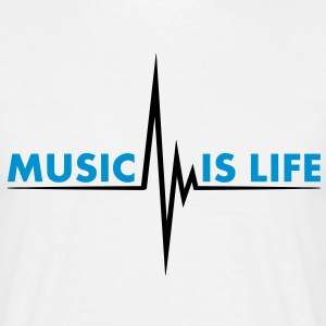 music_is_life T-shirts - Mannen T-shirt