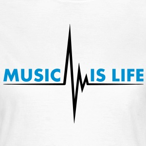 music_is_life T-shirt - Maglietta da donna