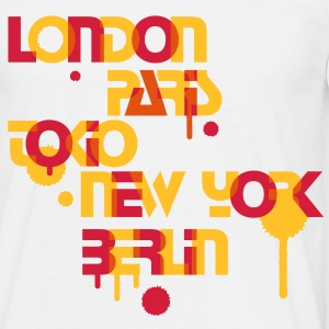 sechs Metropolen, London,Paris,Tokio,New York,Berlin, T-Shirts - Männer T-Shirt