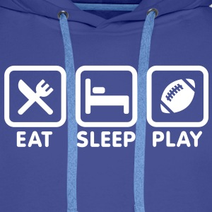 Eat Sleep Play Rugby/American football Sweaters - Mannen Premium hoodie