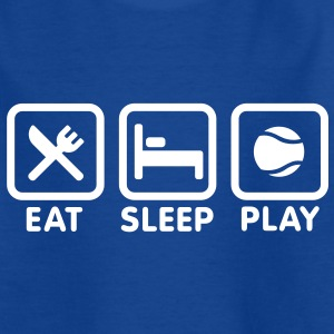 Eat Sleep Play tennis Kinder shirts - Teenager T-shirt