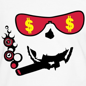 lunette glass dollars cigare smiley1 Tee shirts - T-shirt contraste Homme