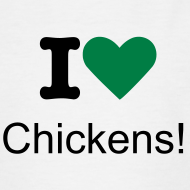 Design ~ I Love Chickens! logo Children's T