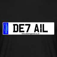 Design ~ Detailing World 'DETAIL' Numberplate T-Shirt