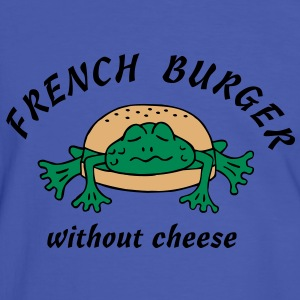 Froschburger French Burger Fastfood Frog ohne Käse without cheese Frankreich France T-shirts - Mannen contrastshirt