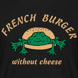 Froschburger French Burger Fastfood Frog ohne Käse without cheese Frankreich France T-Shirts - Men's T-Shirt