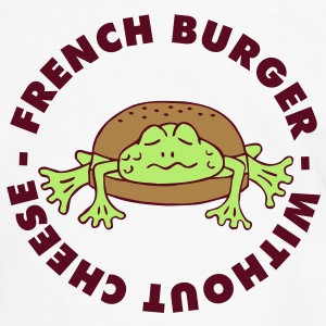 Froschburger French Burger Fastfood Frog ohne Käse without cheese Frankreich France Tee shirts - T-shirt contraste Homme