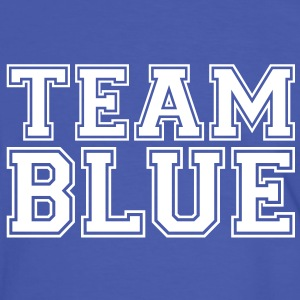 TEAM BLUE - blå hold T-shirts - Herre kontrast-T-shirt