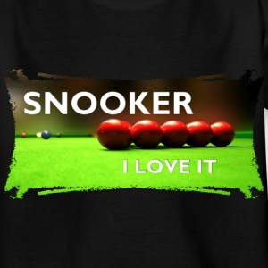 SNOOKER - I LOVE IT | Kindershirt - Teenager T-Shirt
