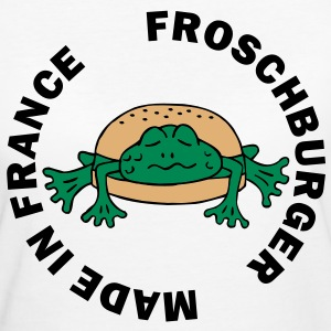 Froschburger French Burger Fastfood Frog ohne Käse without cheese Frankreich France T-Shirts - Women's Organic T-shirt