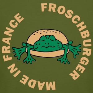Froschburger French Burger Fastfood Frog ohne Käse without cheese Frankreich France Camisetas - Camiseta ecológica hombre