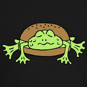 Froschburger French Burger Fastfood Frog ohne Käse without cheese Frankreich France T-shirts - Herre kontrast-T-shirt