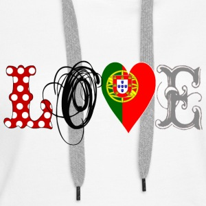 Love Portugal Black - Frauen Premium Hoodie