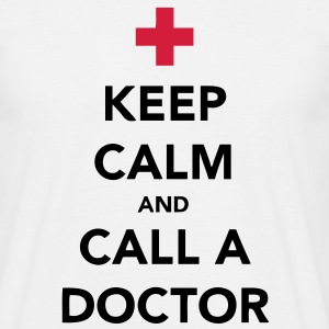 Keep Calm and Call a Doctor T-shirts - Herre-T-shirt