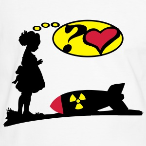 Are you lovely? Bomb Girl love comic / Atomic Bomb T-Shirts - Men's Ringer Shirt
