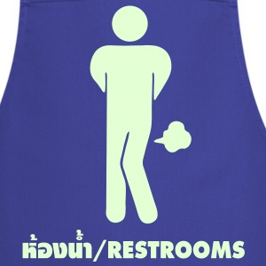 Funny Farting Restrooms / Toilet Sign / Glow in the Dark - Cooking Apron