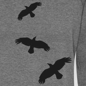raben krähen mystisch vogel fliegen raven mystical crows flying bird Sweaters - Vrouwen trui met U-hals van Bella