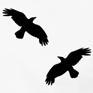 raben krähen mystisch vogel fliegen raven mystical crows flying bird T-shirts - Kontrast-T-shirt herr