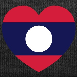Lao / Laos Heart Flag Silhouette - Winter Hat