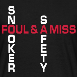 SNOOKER - safety foul & a miss | unisex shirt - Männer T-Shirt