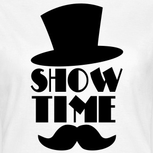 SHOW TIME clown circus hat and moustache  T-Shirts - Women's T-Shirt