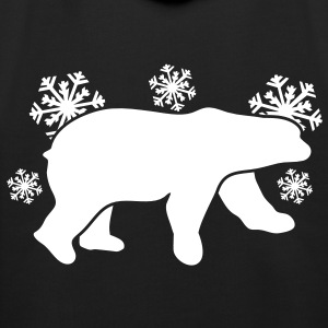 polar bear with winter season snowflakes Kids' Tops - Kids' Premium Hoodie