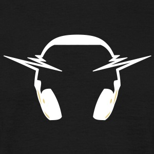 headphone_music_pulse T-shirts - Mannen T-shirt