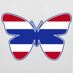 Thai Butterfly Flag Silhouette - Tote Bag