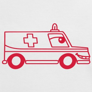 toon_ambulance T-Shirts - Frauen Kontrast-T-Shirt