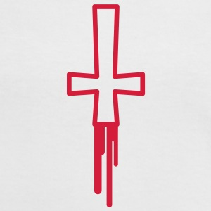 blood_cross T-Shirts - Frauen Kontrast-T-Shirt
