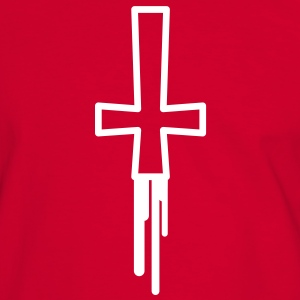 blood_cross T-shirts - Herre kontrast-T-shirt