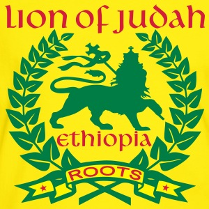 lion of judah ethiopia roots T-shirt - Maglietta Contrast da uomo