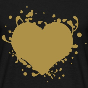 Gold heart coeur d'or - T-shirt Homme