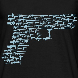 Glock 19 made from guns - Men's T-Shirt
