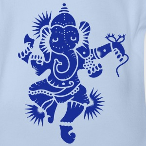The elephant god Ganesha Baby Bodysuits - Organic Short-sleeved Baby Bodysuit