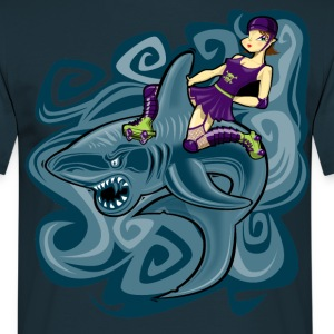 shark rider T-Shirts - Men's T-Shirt