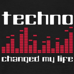 Techno changed my life T-Shirts - Männer T-Shirt