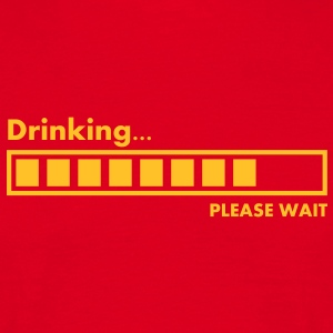 drinking_please_wait T-shirts - Mannen T-shirt