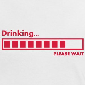 drinking_please_wait T-shirts - Kontrast-T-shirt dam