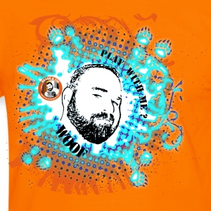 BEARS ET COMPAGNIE =play with me contour bleu/orange Tee shirts - T-shirt contraste Homme
