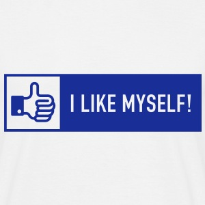 I like myself! (Facebook Button) T-Shirt - Men's T-Shirt