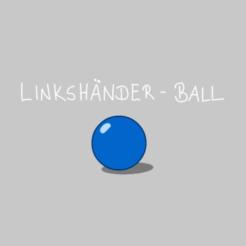 Linkshänderball - helle Schrift