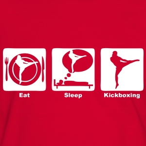 kickboxing eat sleep play Tee shirts - T-shirt contraste Homme