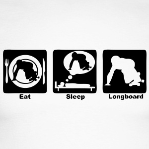 longboard eat sleep play Tee shirts manches longues - T-shirt baseball manches longues Homme