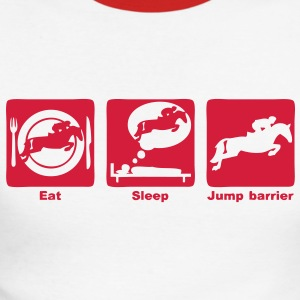 jump barrier saut obstacle eat sleep play Tee shirts manches longues - T-shirt baseball manches longues Homme
